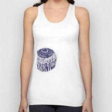 Tea cake (blue) Unisex Tank Top