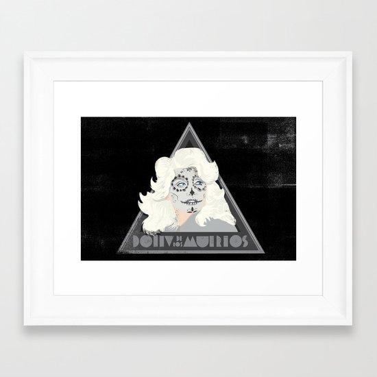 Dolly de los Muertos Framed Art Print