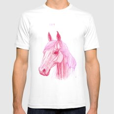 Year Of The Horse White Mens Fitted Tee SMALL