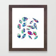 Disco Leaf Framed Art Print