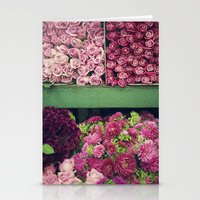 Flower Market Colorblock Stationery Cards