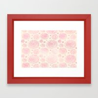 Vanilla Pink Blooms Framed Art Print