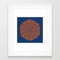 Bugs Maze (orange) Framed Art Print