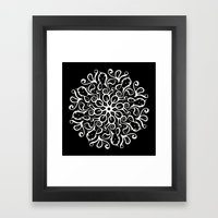 Leaves B&W Framed Art Print