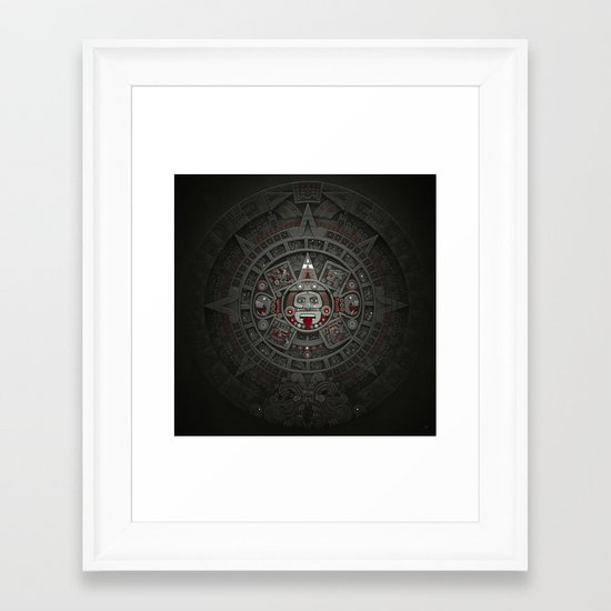 Stone of the Sun I. Framed Art Print