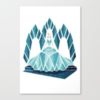 Waiting ( The Snow Queen ) Canvas Print