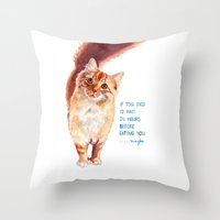 If You Died Throw Pillow