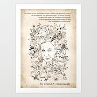 Attenborough & His Anima… Art Print