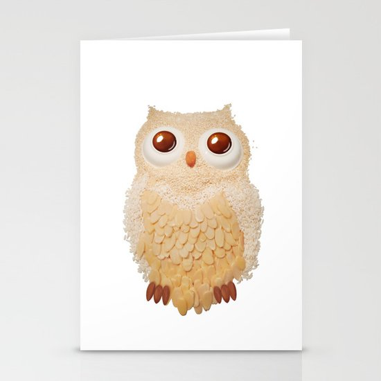 Owl Collage #5 Stationery Card