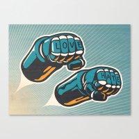 Love/Hate Canvas Print
