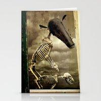 Pet Skeleton Stationery Cards