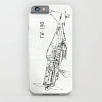 iPhone & iPod Case featuring FW - 190 ( B & W) by One Curious Chip