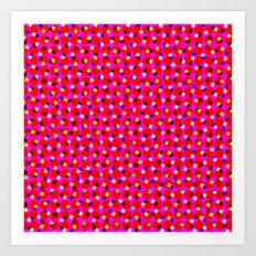 PINK DOT & STAR  Art Print