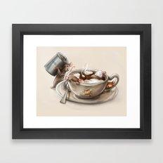 Pumpkin Spice Latte Framed Art Print