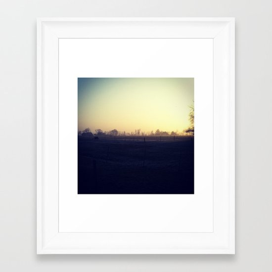 Halfhalf Framed Art Print