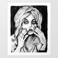 courtney love cobain no.2 Art Print