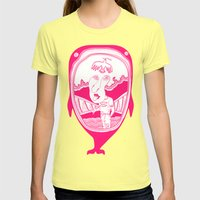 Inside The Whale Womens Fitted Tee Lemon SMALL