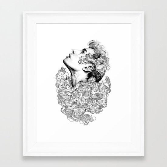 Facial explosion part 3 Framed Art Print