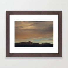 Rocky Mountain Sunset Framed Art Print