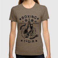 Boxing Womens Fitted Tee Tri-Coffee SMALL
