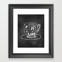 Cup Full Of Love Chalkbo… Framed Art Print
