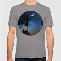 Give The Moon A Little K… Mens Fitted Tee Tri-Grey SMALL