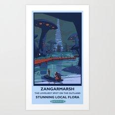 Zangarmarsh Classic Rail Poster Art Print