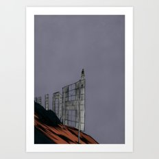 Hollywood Despair Art Print