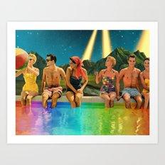 Cosmic Pool Party Art Print