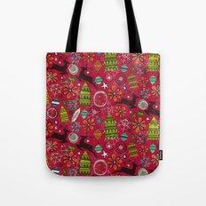 joyous jumble red Tote Bag