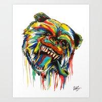 Sophisticated Bear Art Print
