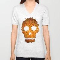 Candy Corn Skull Unisex V-Neck