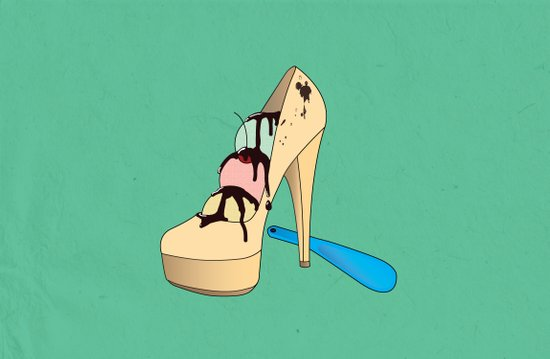 Ice Creamy Shoes Art Print