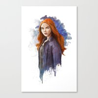 The Girl Who Waited Canvas Print
