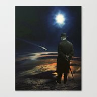Canvas Print featuring Shooting Star by TRASH RIOT