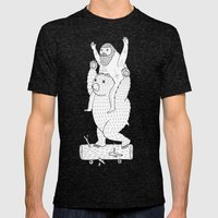 On A Cause Which Contrib… Mens Fitted Tee Tri-Black SMALL
