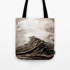 The WAVE - sepia Tote Bag