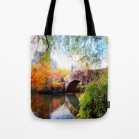 Last Autumn in Central Park Tote Bag