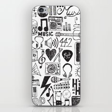 Music Doodles iPhone & iPod Skin