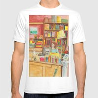 Book store Mens Fitted Tee White SMALL