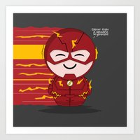ChibizPop: Faster than... Art Print