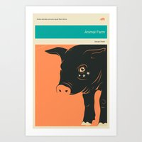 'SOME ANIMALS ARE MORE EQUAL THAN OTHERS' Art Print