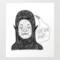 Alien Thoughts Art Print