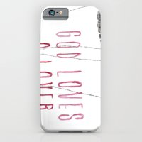 iPhone & iPod Case featuring God loves a lover by BITN
