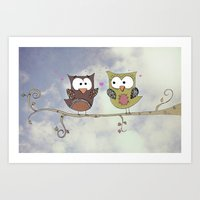Love Owlways Art Print