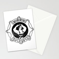 Swimming instructor Stationery Cards