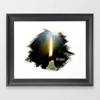 Candle Of Hope Framed Art Print