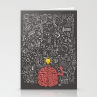 My Brain Won't Stop Stationery Cards