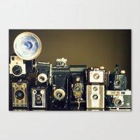 Vintage Camera Collectio… Canvas Print