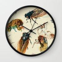 Summer Cicadas Wall Clock